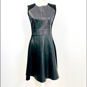 My TRIBE Ponte Leather Panel Dress